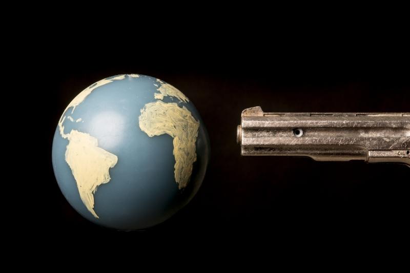 The world at gun point