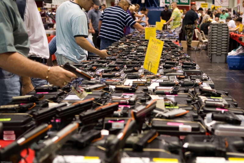 Shoppers at gun show