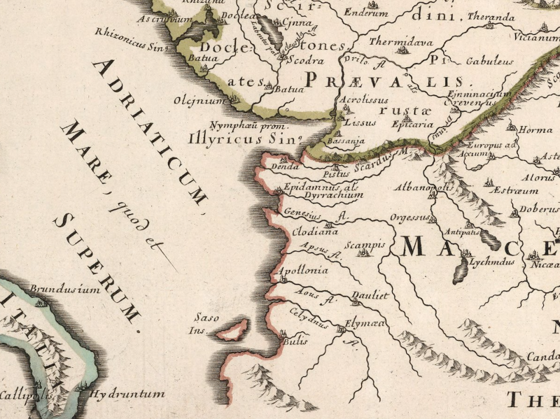 Antique map of Illyria