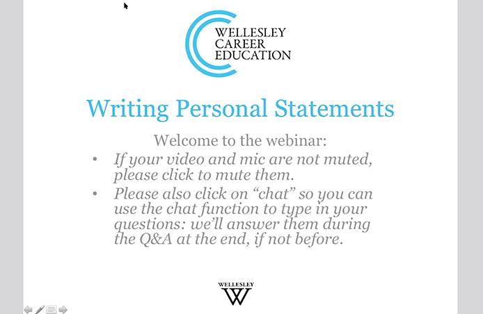 Personal Statement Webinar