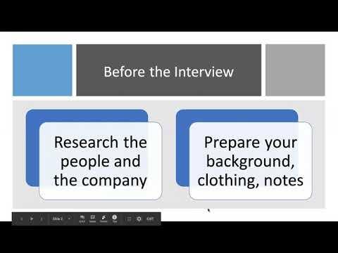 Finance-focused Interview Workshop (March 2021)