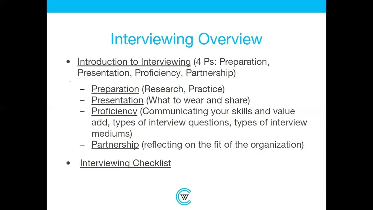 Interviewing: A Career Essentials Workshop