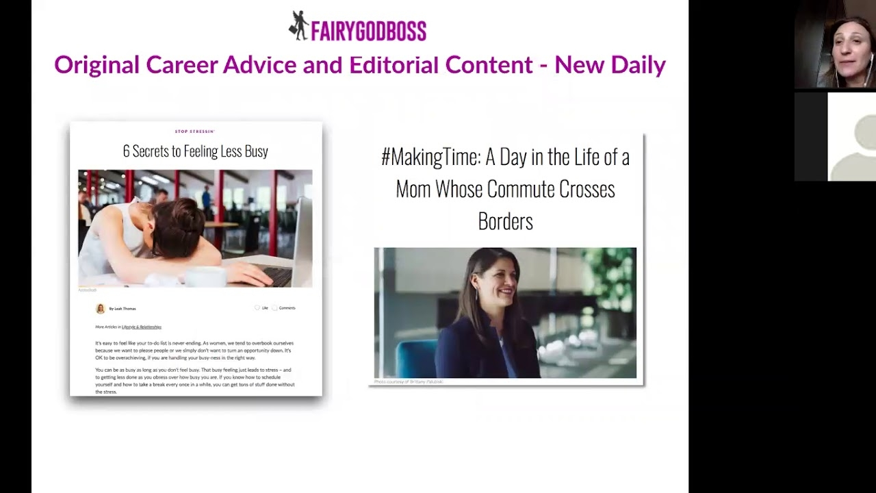 Advancing Your Career Through Gender Equality with Fairygodboss (Webinar, October 2018)