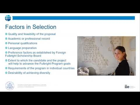 Fulbright U.S. Student Program: Online Info Session and Myth-busting! (April 2020)