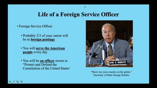 Working in Diplomacy: Careers with the U.S. State Department (September 2021 Webinar)