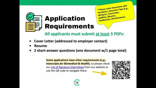 Signature Internships Program Webinar (Fall 2021)