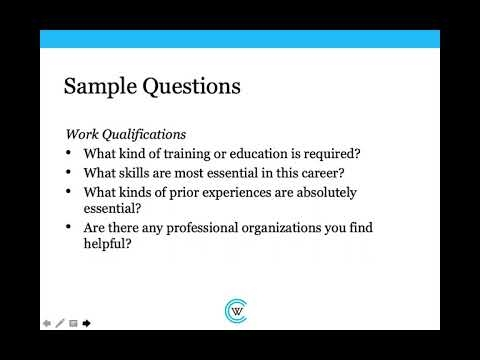 Informational Interviewing: A Career Essentials Workshop