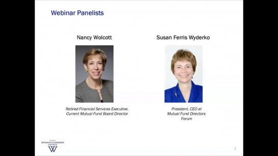 Panel on Mutual Fund Boards of Directors  (Webinar, January 2018)