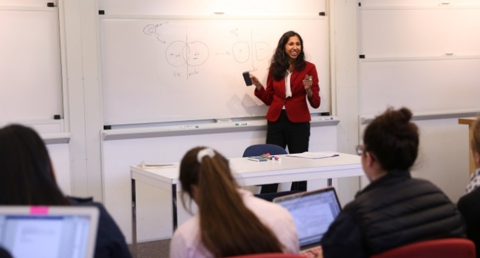 Mala Radhakrishnan in the classroom