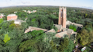 aerial view of Wellesley's campus