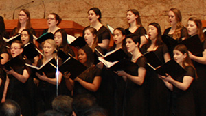The Wellesley College Choir performs in Seoul