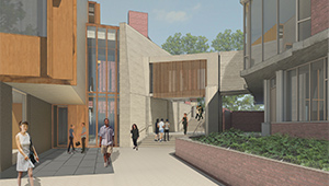 An Architect's Rendering of the New Pendleton West Building