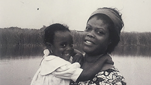Naa-Sakle Akuete '08 as a child with her mother Eugenia
