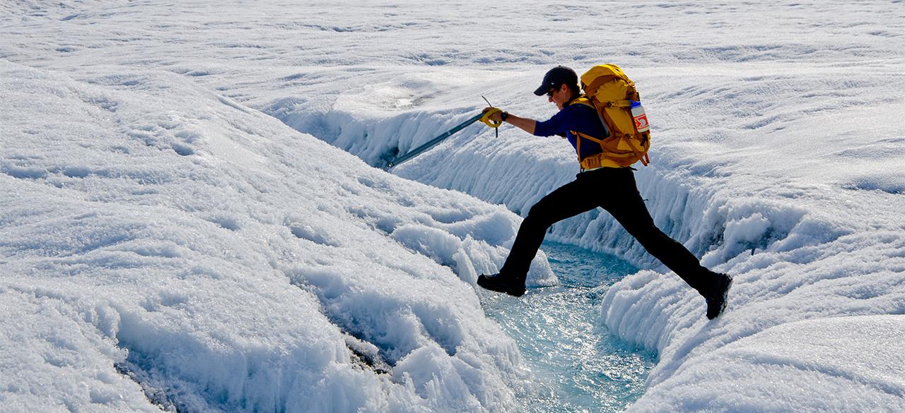 Glacier hopping alumna Laura Stevens '11