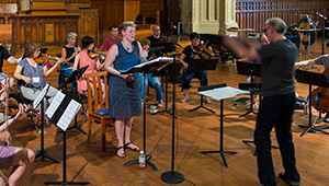 Distinguished Faculty of the 2015 Composers Conference Rehearse