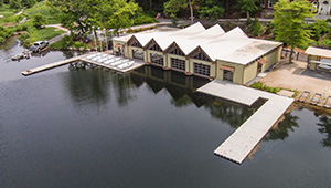 Wellesley's newly renovated Butler Boathouse