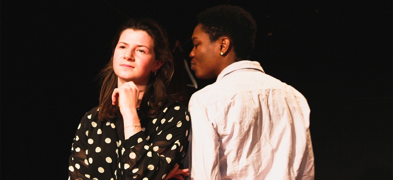 A scene from Twin Primes, which won two awards at the 2015 Oxford New Writing Festival, directed by Kate Bussert '16.