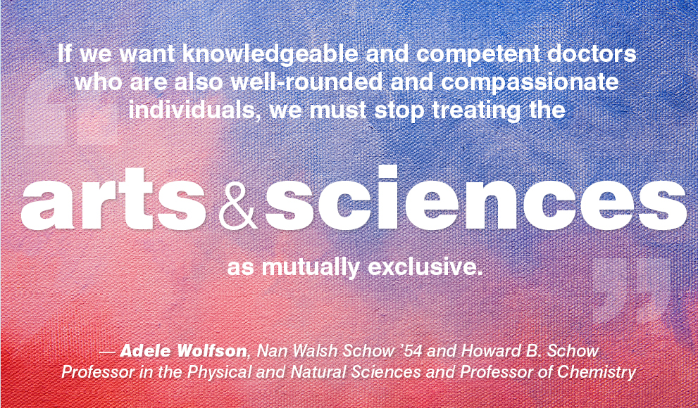 science matters adele wolfson essay published by inside higher ed  quote in white text on blue and red field by wellesleys adele wolfson says  we