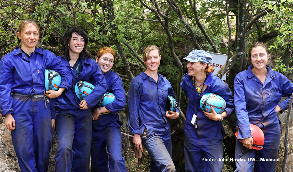 "The six women known as the Rising Star Expedition's ""Underground Astronauts"""