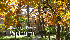 A fall campus scene welcomes friends, family and homecoming guests