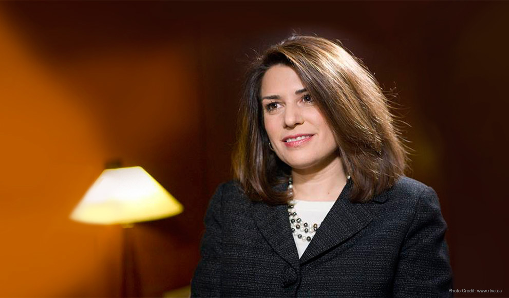 A photo of Julieta Valls Noyes '84, who was recently confirmed as Ambassador to Croatia