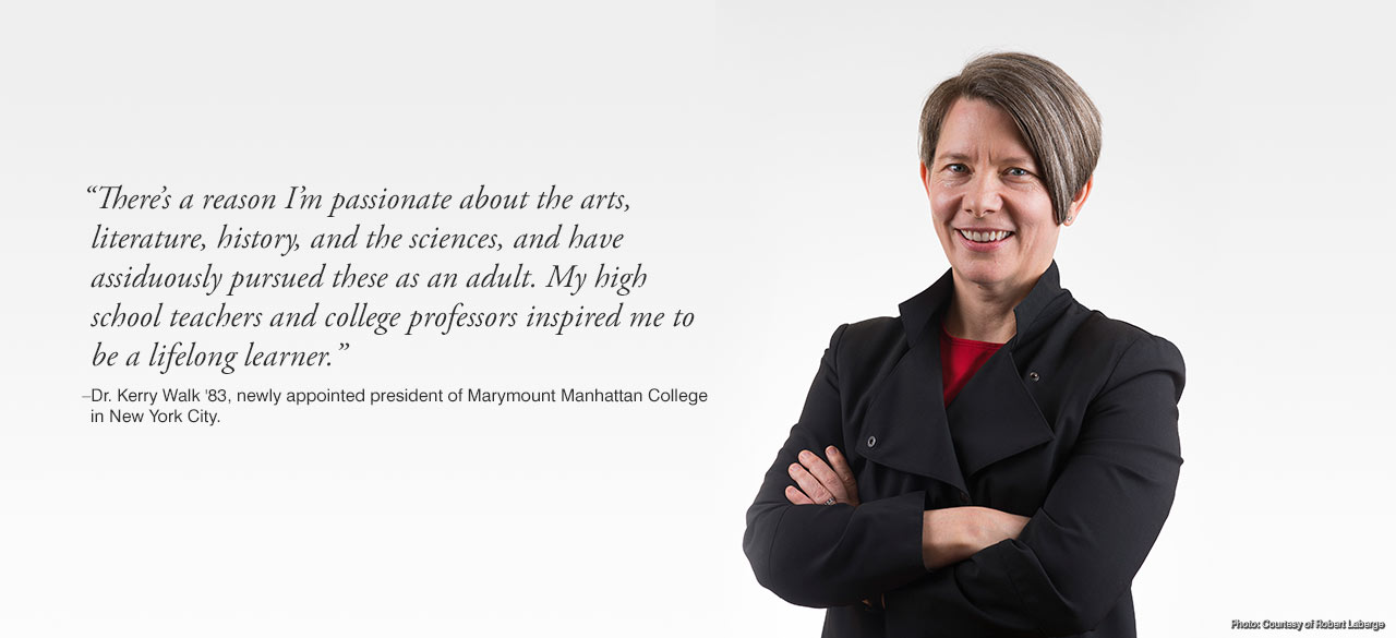 Kerry Walk '83 named president of Marymount Manhattan College