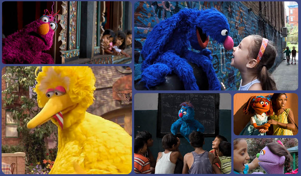 A collection of images from Sesame Street