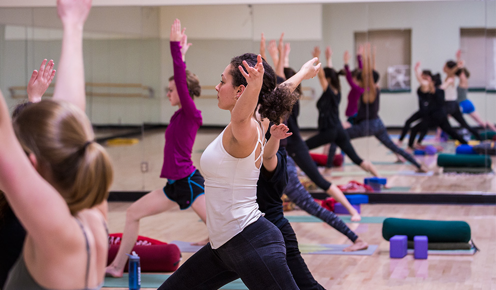 Wellesley Students Practice Yoga at the KSC