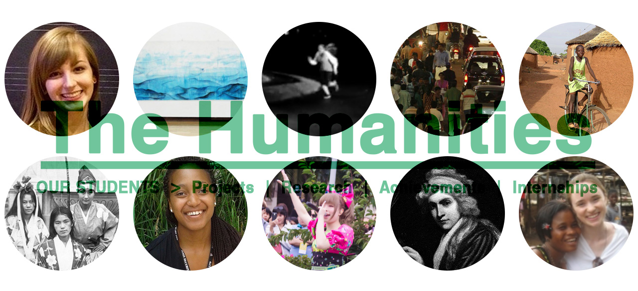 New Webpages Celebrate Humanities Students