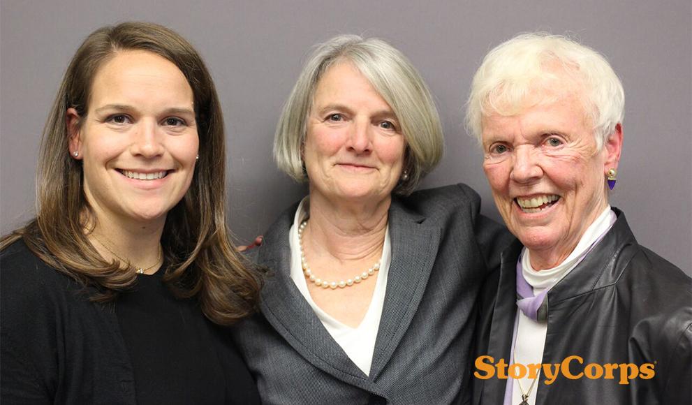 Katie Johnson '03, Georgia Murphy Johnson '75, Katherine Barrett Murphy '53