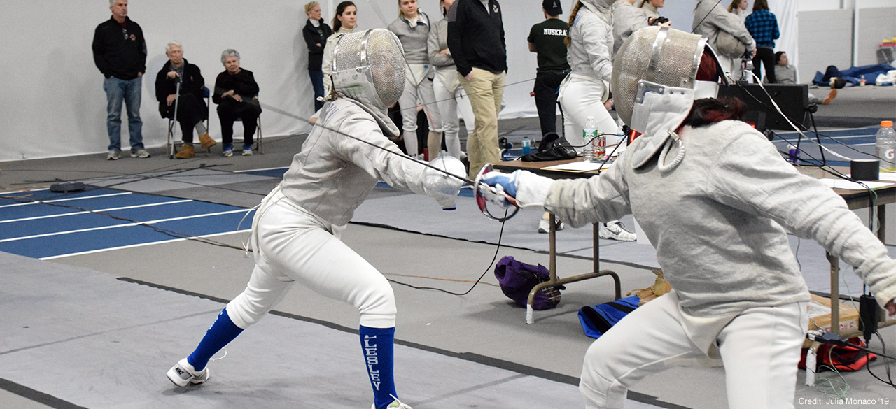 Fencing athletes from Wellesley College