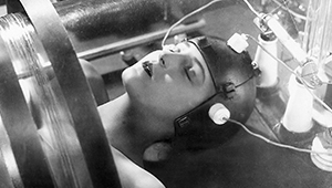 A scene from the German silent film Metropolis
