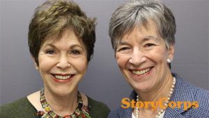 Wellesley alumnae Linda Gottlieb '60 and Nicki Tanner '57