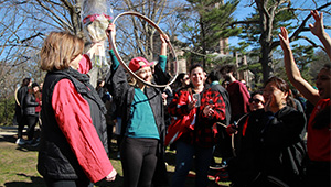 Arianna Rodriguez '16 Won the 121st Annual Hoop Rolling Contest