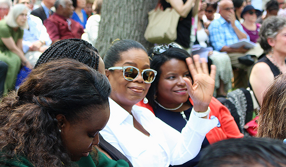 Oprah Winfrey was among the family and friends in attendance.