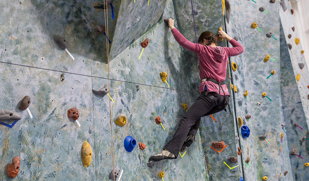 Rock climbing demonstrated by Katherine Morris '17