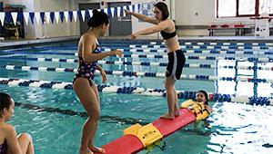 Key Log Rolling in the Wellesley College Pool