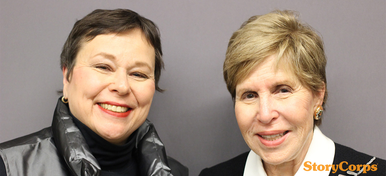 Martha Teichner '69 and Milly Cooper Glimcher '61