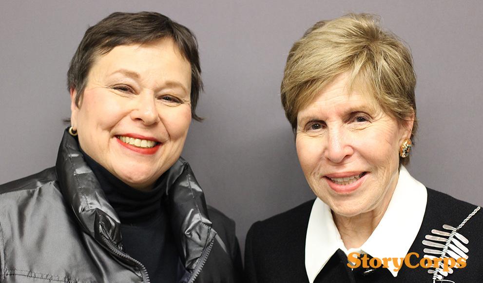 Martha Teichner '69 and Milly Cooper Glimcher '61