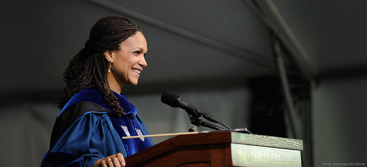 Melissa Harris-Perry speaking at Wellesley's 2012 Commencement
