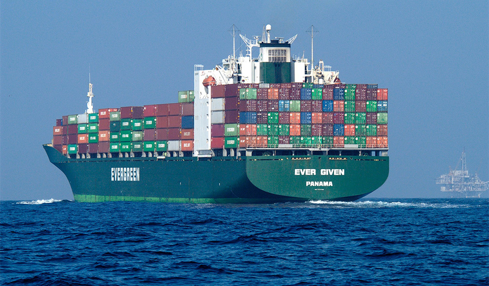 A large ship in the ocean, used to illustrate an op-ed by a Wellesley professor on the dangers of shipping loopholes.
