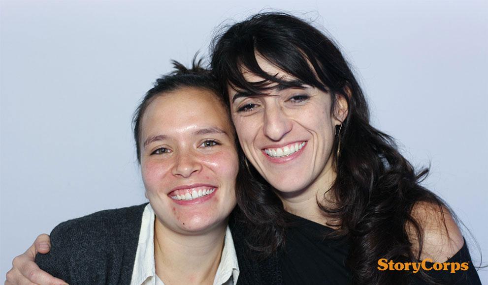 Daniela Rivera and Margo Sulmont '13