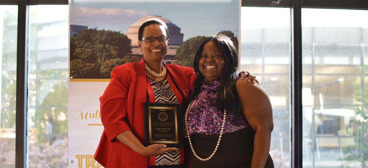 Associate provost Robbin Chapman and La-Tarri M. Canty, director of multicultural programs at MIT