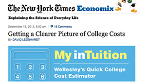 detail of NY Times page with My inTuition graphic