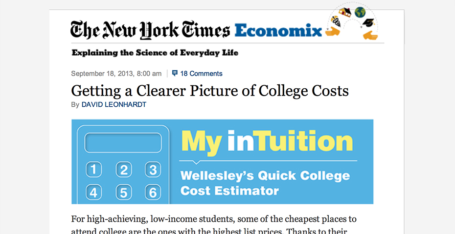 press shares news of my intuition wellesley s quick college cost