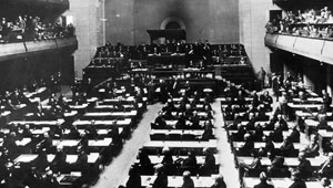 vintage photo first session League of Nations
