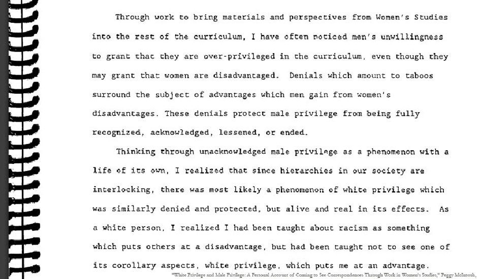 image of first two paragraphs of McIntosh's paper