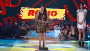 Rocio Ortega on stage at Halo Awards Ceremony
