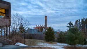 Wellesley power plant seen in the distance
