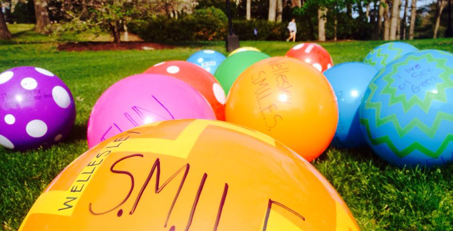 close-up of many multicolored playground balls on the grass